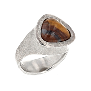 Rustic Tigers Eye Ring