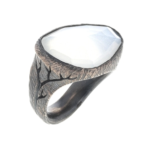 Rustic Moonstone Ring